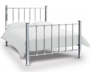 Bentley Designs Madison Shiny Nickel Kingsize Bed Frame