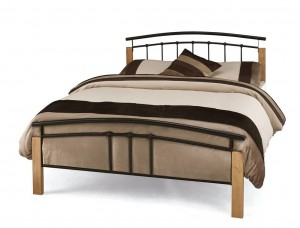 Tetras Black Double Bed Frame