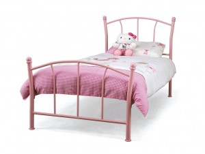 Penny Pink Single Bed Frame