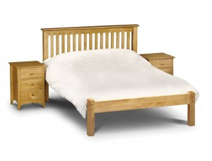 Barcelona Pine Low Foot End Double Bed Frame