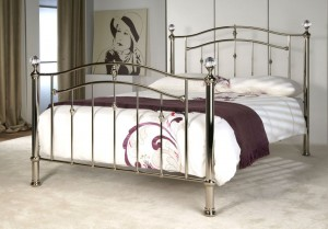 Callipso Chrome and Crystal Double Bed Frame