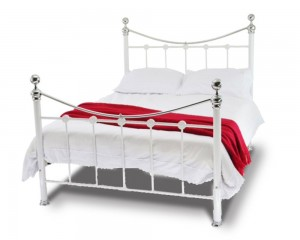 Camberwell White & Chrome Double Bed Frame