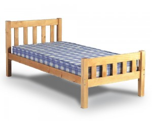 Carlowe Antique Pine Single Bed Frame