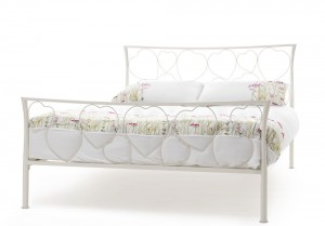 Chloe Ivory Double Bed Frame