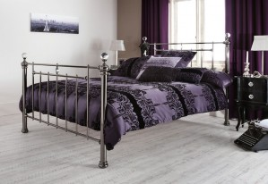 Clarence Black Nickel Three Quarter Bed Frame