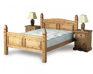 Corona Mexican Three Quarter Bed Frame
