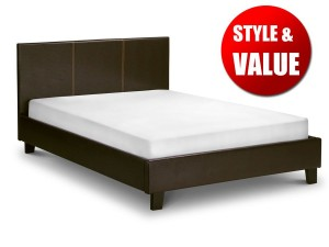 Cosmo Brown Single Bed Frame