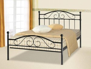 Sussex Black Three Quarter Bed Frame