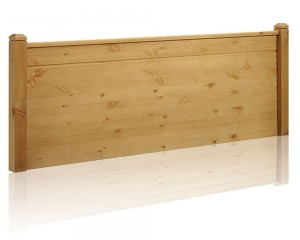 Duke Rustic Waxed Pine Kingsize Headboard