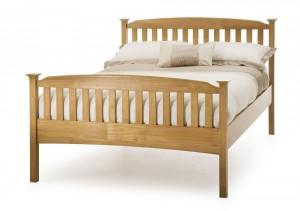 Helena Honey Oak High Foot Kingsize Bed Frame