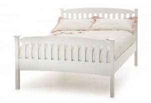 Helena Opal White High Foot Kingsize Bed Frame