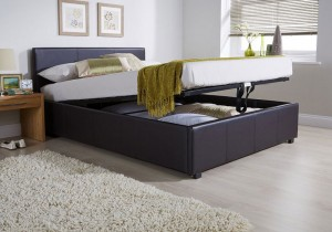 End Lift Ottoman Storage Bed Frame