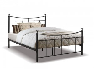 Emily Black Double Bed Frame