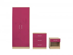 Daytona Pink Bedroom Trio Set