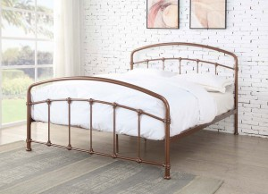 Bostin Rose Gold Bed Frame