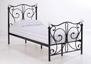Florentine Black Single Bed Frame