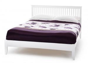 Freyanne Opal White Super Kingsize Bed Frame
