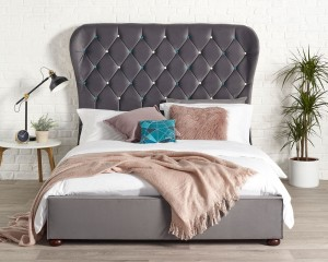 Zak Grey Bed Frame