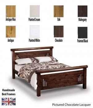 Hamish Handcrafted Three Quarter Bed Frame
