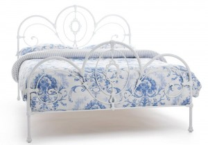 Harriet White Gloss Kingsize Bed Frame