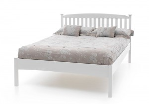 Helena Opal White Low Foot Kingsize Bed Frame