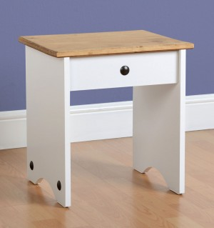 Corona White Dressing Table Stool