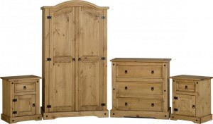 Corona Pine Bedroom Set Quattro Special Offer