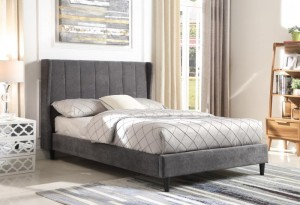 Dark Grey Hotel Bed Frame