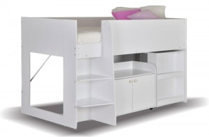 Astral White Cabin Bed