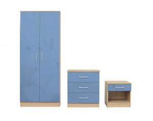 Daytona Blue Bedroom Trio Set