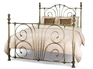 Jessica Antique Brass Super Kingsize Bed Frame