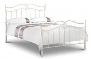 Katrina Stone White Double Bed Frame