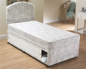 Small single divan beds divan beds for Single divan with drawers and headboard