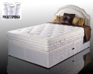 Kozee Rose Luxury Pocket 1000 Super King Non Storage Divan Bed