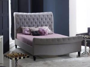 Lark Grey Bed Frame