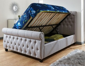 Lucia Grey Ottoman Bed Frame