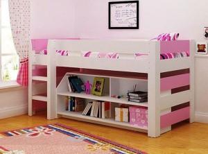 Lollipop Pink Cabin Bed Bunk