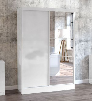 Links High Gloss White Sliding Door Robe