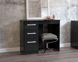 Links High Gloss Black 3 Drawer Dressing Table