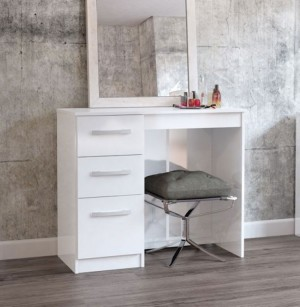Links High Gloss White 3 Drawer Dressing Table