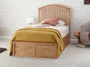 Madrillo Natural Ottoman Storage Bed Frame