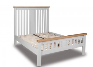 Melrose French Grey And Oak Bed Frame