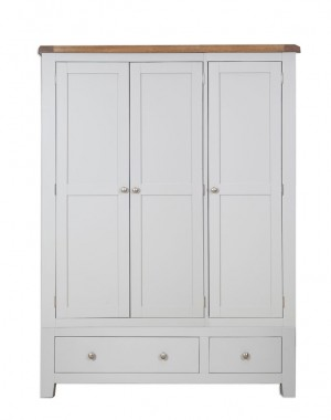 Melrose Grey 3 Door Robe