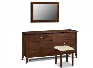 Minuet 6 Drawer Dresser Stool & Mirror