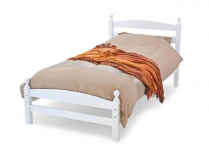 Moderna White Single Bed Frame
