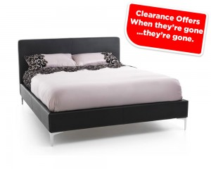 Monsa Black Super Kingsize Bed Frame Sale Price