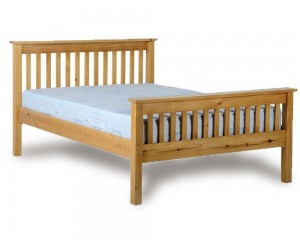 Monty High Foot Double Pine Bed Frame
