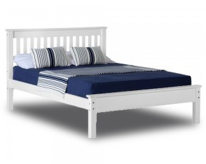 Monty White Low Foot Kingsize Bed Frame