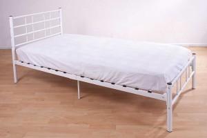 Morgan White Single Bed Frame
