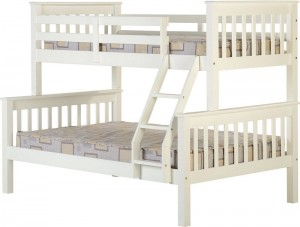 Neptuno White Triple Bunk Bed